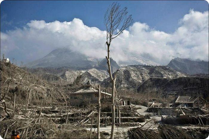Индонезия испытала тройной удар стихии (21 фото)