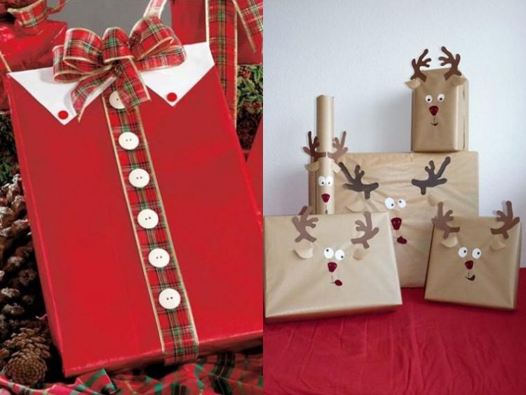 Упаковка для новогодних подарков 46