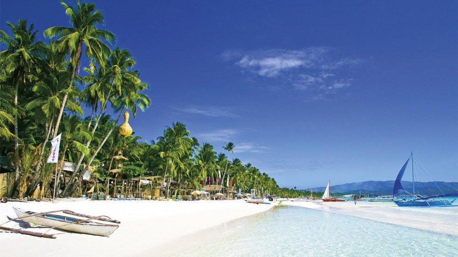 пляж в азии