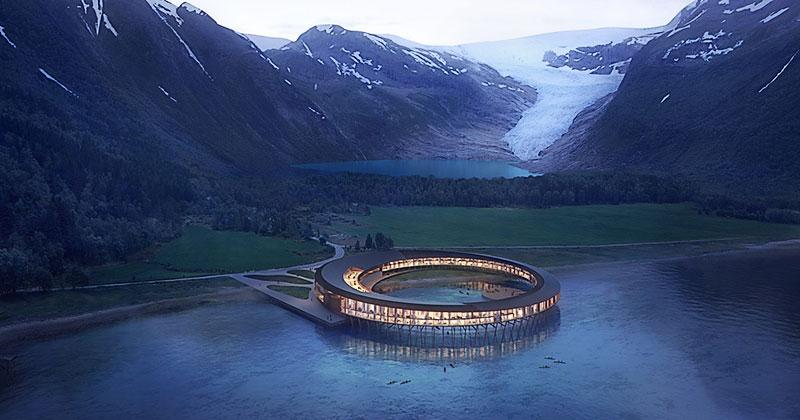 Отель на солнечных батареях в Арктике